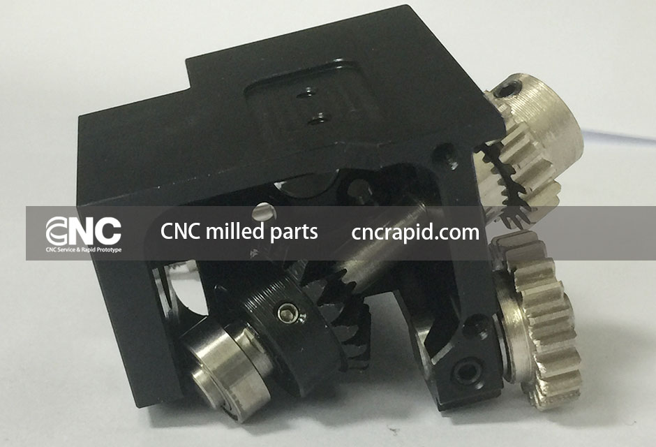 CNC milled parts, High precision parts services factory China